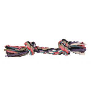 TRIXIE Žaislas šunims susukta spalvota virvė 300 g, 37 cm