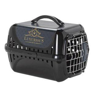 MODERNA PRODUCTS Luxurious boksas gyvūno transportavimui juodas, 49.4x32.2x30.4 cm