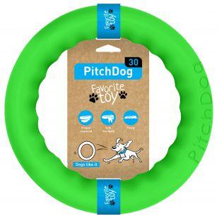 PULLER PitchDog Žaislas šunims 28 žiedas žalias, 28 cm