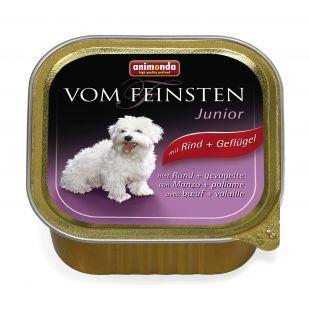ANIMONDA Vom feinsten puppy Konservuotas pašaras šunims su jautiena ir paukštiena 150 g