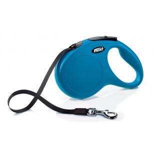 FLEXI Classic Pavadis, max 25kg, 5m juostelinis mėlynas, M