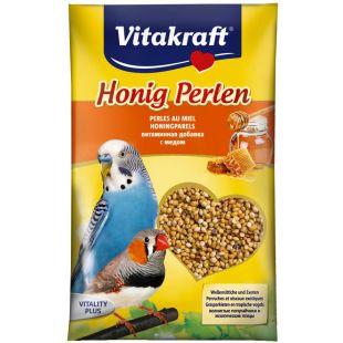 VITAKRAFT Honig Perlen Vitaminizuotos sėklos banguotoms papūgėlėms 20 g