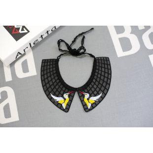 CHEE PET Apykaklė dekoruota juodas