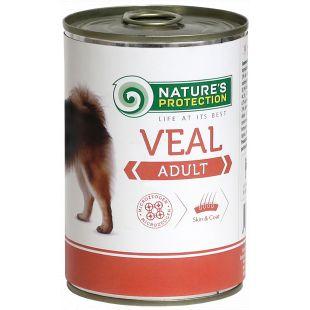 NATURE'S PROTECTION Dog Adult Veal Konservuotas pašaras šunims 400 g