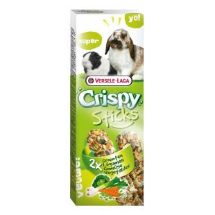 VERSELE LAGA Crispy Sticks Pašaro papildas triušiams ir jūros kiaulytėms su daržovėmis, 2 vnt.
