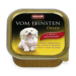 ANIMONDA Vom feinsten classic Konservuotas pašaras šunims su jautiena ir kalakutų širdimis 150 g