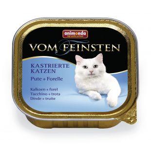 ANIMONDA Vom feinsten konservuotas sterilizuotų kačių pašaras su kalakutiena ir upėtakiu, 100 g