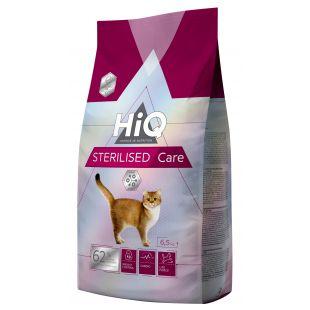 HIQ Sterilised care pašaras katėms 6.5 kg