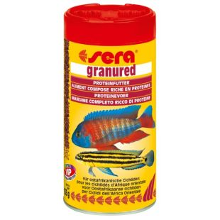 SERA Granured Pašaras mėsėdėms žuvims 250 ml