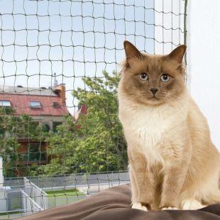 TRIXIE Apsauginis langų tinklas katėms žalios spalvos, 6 x 3 m