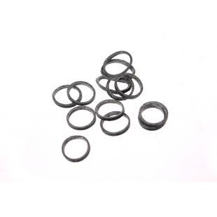 LAINEE Gumytės lateksinės 100vnt juodos, 100 vnt., 8 mm
