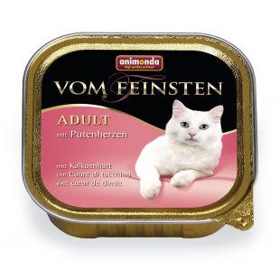 ANIMONDA Vom feinsten classic Konservuotas pašaras katėms su kalakutų širdelėmis 100 g