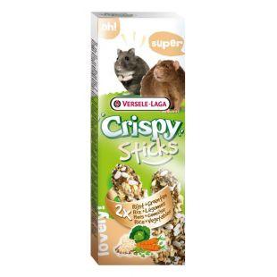 VERSELE LAGA Crispy Sticks Gardėsis žiurkėnams ir žiurkėms su ryžiais ir daržovėmis, 2 vnt.