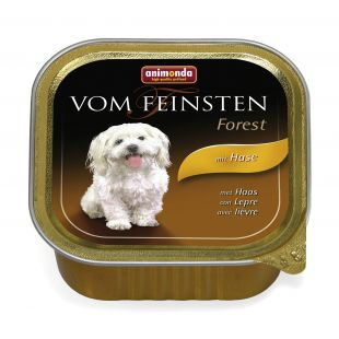 ANIMONDA Vom feinsten Forest Konservuotas pašaras šunims su triušiena 150 g