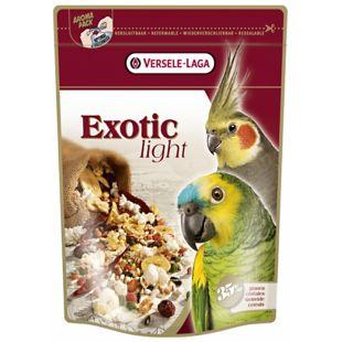 VERSELE LAGA Prestige Premium Exotic Light Lesalas papūgoms su vaisiais ir grūdų sėklomis 750 g