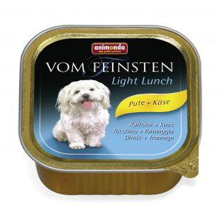 ANIMONDA Vom feinsten light lunch Konservuotas pašaras šunims su kalakutiena ir sūriu 150 g