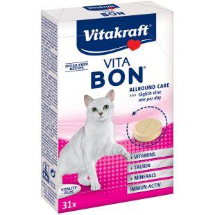 VITAKRAFT Vita-Bon Cat Multi-Vitamin Pašaro priedas katėms 31 tbl.