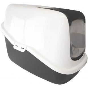 SAVIC NESTOR Namas-tualetas katėms baltas/pilkas, 56x39x38.5 cm