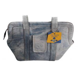 HIPPIE PET Džinsinis krepšys gyvūno pernešimui 44x17x23 cm, S