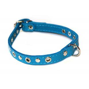 HIPPIE PET Antkaklis su skylutėmis mėlynas, 1.2x32cm