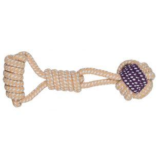TRIXIE Žaislas Šunims Virvinis kamuoliukas su rankena 6 cm / 23 cm