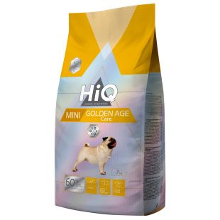 HIQ Mini Golden Age Care Sausas pašaras šunims 7 kg