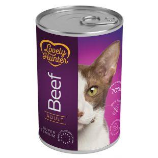 LOVELY HUNTER Konservuotas pašaras katėms su jautiena 400 g