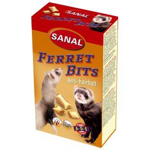 SANAL ferrets bits anti-hairball papildas nuo sąvėlų šeškams 75 g