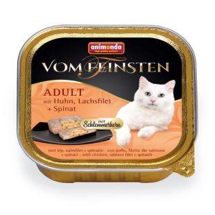 ANIMONDA Vom feinsten schlemmerkern Konservuotas pašaras katėms su vištiena, lašišos file ir špinatais 100 g