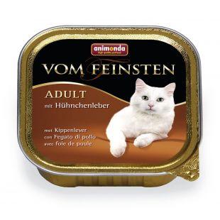 ANIMONDA Vom feinsten classic Konservuotas pašaras katėms su vištų kepenėlėmis 100 g