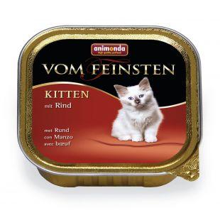 ANIMONDA Vom feinsten Konservuotas pašaras jaunoms katėms su jautiena 100 g