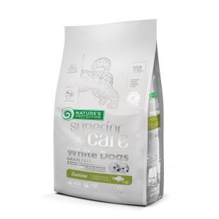 NATURE'S PROTECTION SUPERIOR CARE White Dogs Small & Mini Breeds Junior Grain Free White Fish Sausas pašaras šunims 10 kg