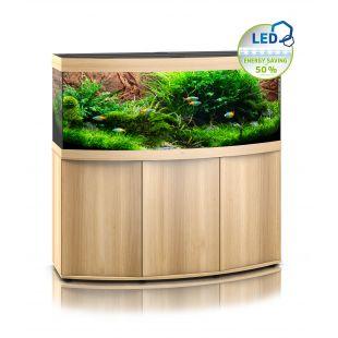 JUWEL LED Vision 450 Akvariumas lenktas šviesaus medžio spalvos