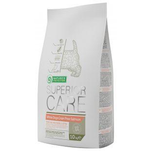 NATURE'S PROTECTION SUPERIOR CARE White dogs Small & Mini Breeds Adult Grain Free SalmonSausas pašaras šunims 10 kg
