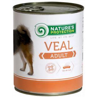 NATURE'S PROTECTION Dog Adult Veal Konservuotas pašaras šunims 800 g