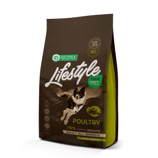 NATURE'S PROTECTION LIFESTYLE All Breeds Adult Grain Free Poultry Sausas pašaras šunims 1.5 kg