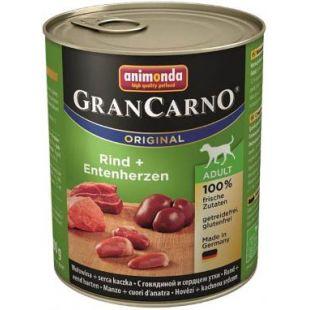 ANIMONDA GRANCARNO Adult Konservuotas pašaras šunims su jautiena ir ančių širdelėmis 800 g