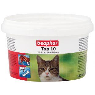BEAPHAR Top-10 cat Pašaro papildas katėms 180 tbl.
