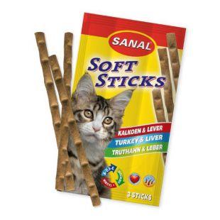 SANAL Cat soft sticks Su kalakutiena ir kepenėlėmis 3 vnt.