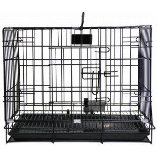 HIPPIE PET Narvas gyvūnui transportuoti, metalinis juodas, 76x48x57 cm