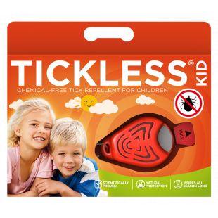 TICKLESS Kid Ultragarsinis pakabukas nuo erkių ir blusų žmonėms oranžinis
