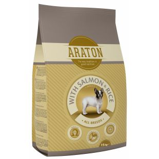 ARATON Adult Salmon Sausas pašaras šunims 15 kg