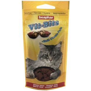 BEAPHAR Vit-bits cat multi-vitamin Skanėstai-pagalvėlės, 35 g