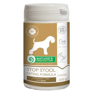 NATURE'S PROTECTION Stop stool eating Formula Pašaro papildas šunims 200 g