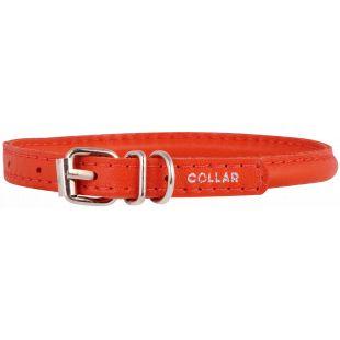 COLLAR Odinis antkaklis apvalus ilgaplaukiams šunims raudonas, 0.6x25-33 cm