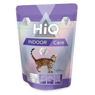 HIQ Indoor care Pašaras katėms 400 g