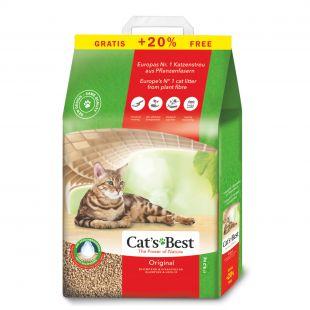 JRS CAT'S BEST ORIGINAL Sušokantis natūralus pjuveninis kraikas 10 + 2 l