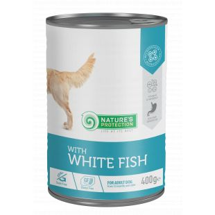 NATURE'S PROTECTION Sensible digestion white fish Konservuotas pašaras šunims 400 g