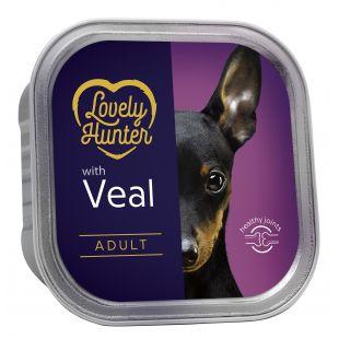 LOVELY HUNTER Dog adult veal Konservuotas pašaras, 150 g