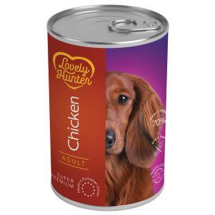 LOVELY HUNTER Adult Konservuotas pašaras šunims su vištiena 800 g